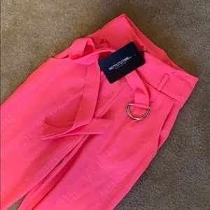 Pretty Little Thing Pink Neon Trousers 0